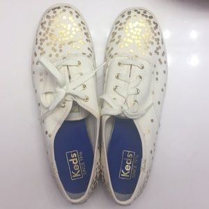 Keds Cream and Gold shoes